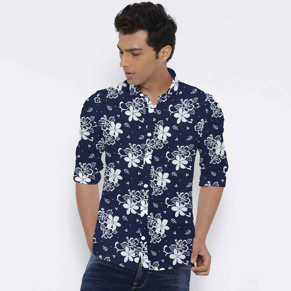 SRT Men's Soapwort Printed Casual Shirt Men's Casual Shirt SRT S