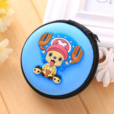Cartoon Character Headphone Storage Bag Storage Bag Sunshine China Smiling Face Sky Blue