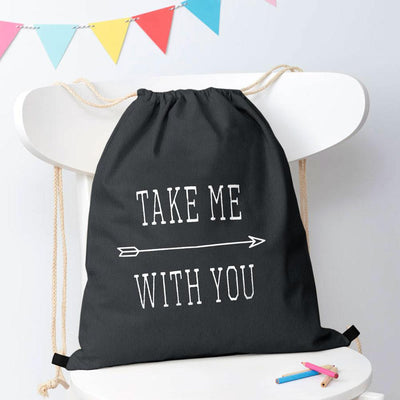 Polo Republica Take Me With You Drawstring Bag Drawstring Bag Polo Republica Dark Graphite White