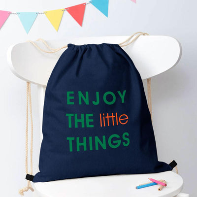 Polo Republica Enjoy Little Things Drawstring Bag Drawstring Bag Polo Republica Navy Green