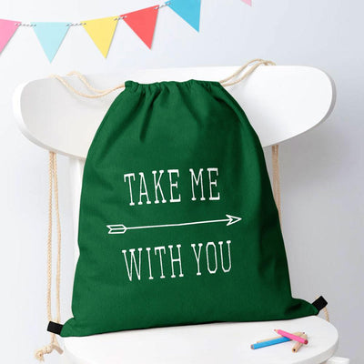Polo Republica Take Me With You Drawstring Bag Drawstring Bag Polo Republica Green White