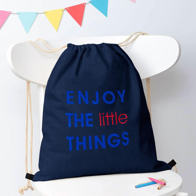 Polo Republica Enjoy Little Things Drawstring Bag Drawstring Bag Polo Republica Navy Blue