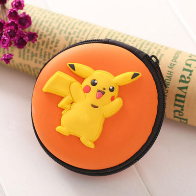 Cartoon Character Headphone Storage Bag Storage Bag Sunshine China Pikachu Orange