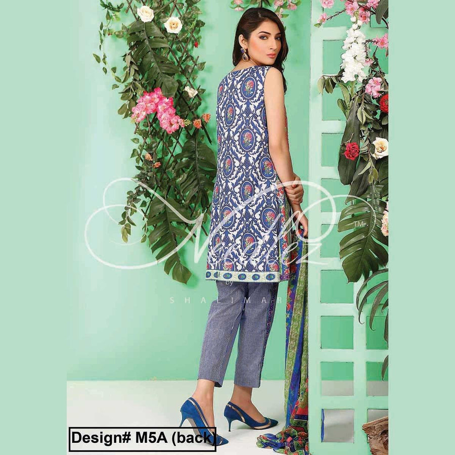 Needlez by Shalimar Unstitched Zotic Misha Lawn Embroidery Suit