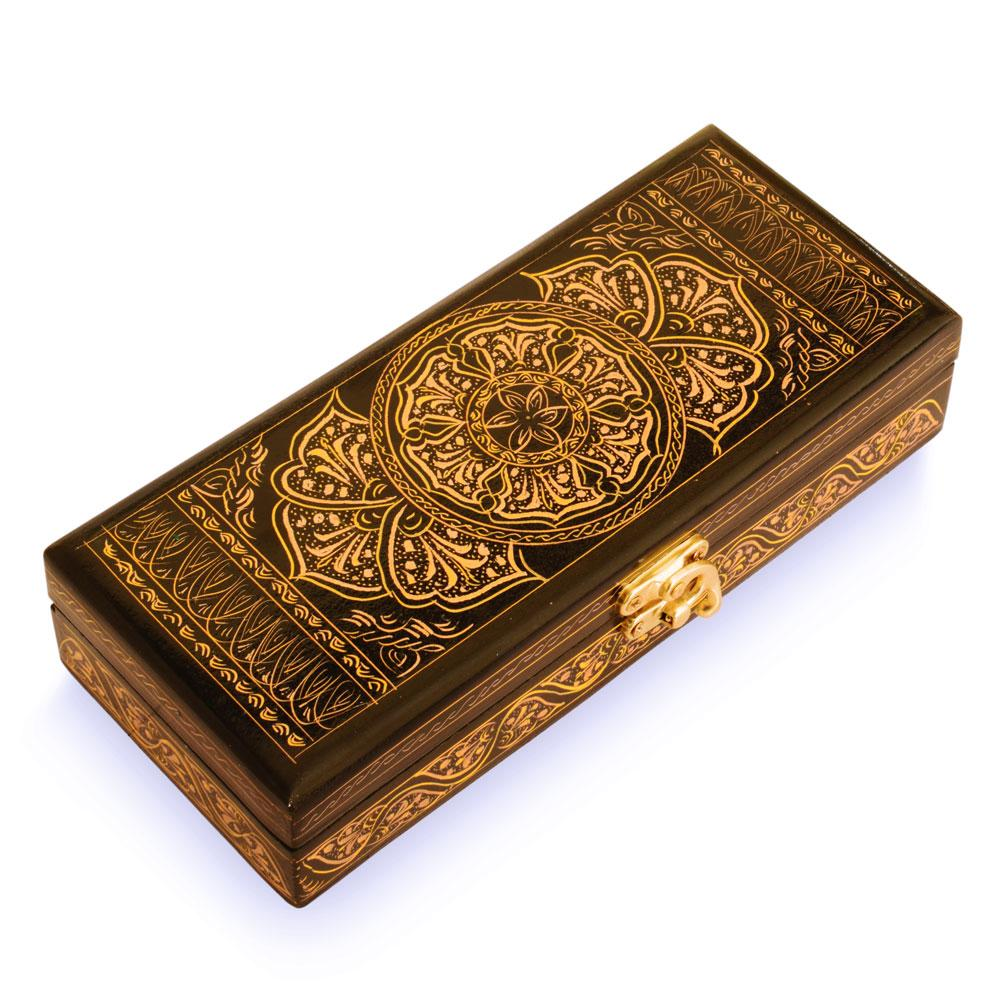 Beautiful Rectangular Shaped One Piece Jewelry Box Jewellery SAK Gold