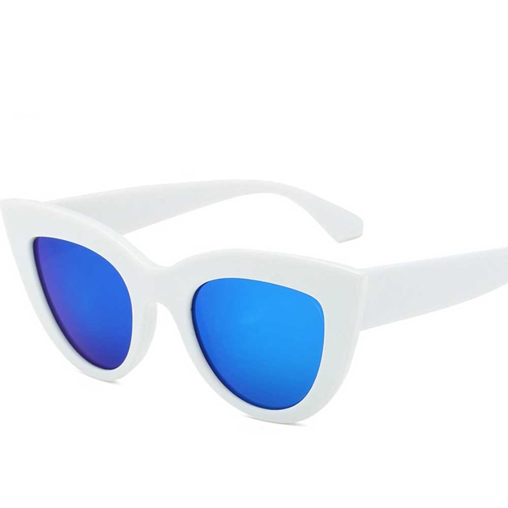 Women's Cross-Border Mirrored Sunglasses Eyewear Sunshine China White Royal