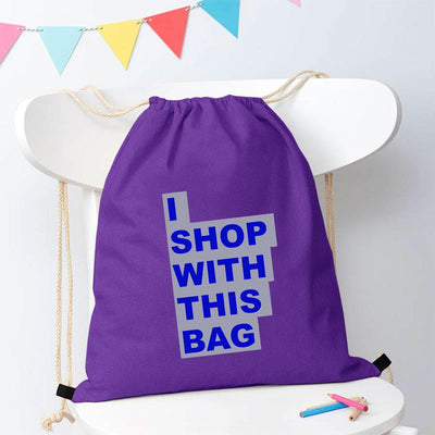 Polo Republica Shop With This Bag Drawstring Bag Drawstring Bag Polo Republica Purple Royal