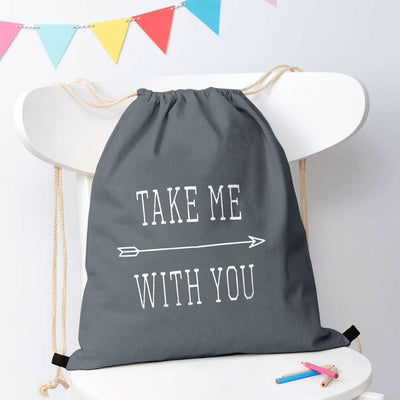 Polo Republica Take Me With You Drawstring Bag Drawstring Bag Polo Republica Light Graphite Blue