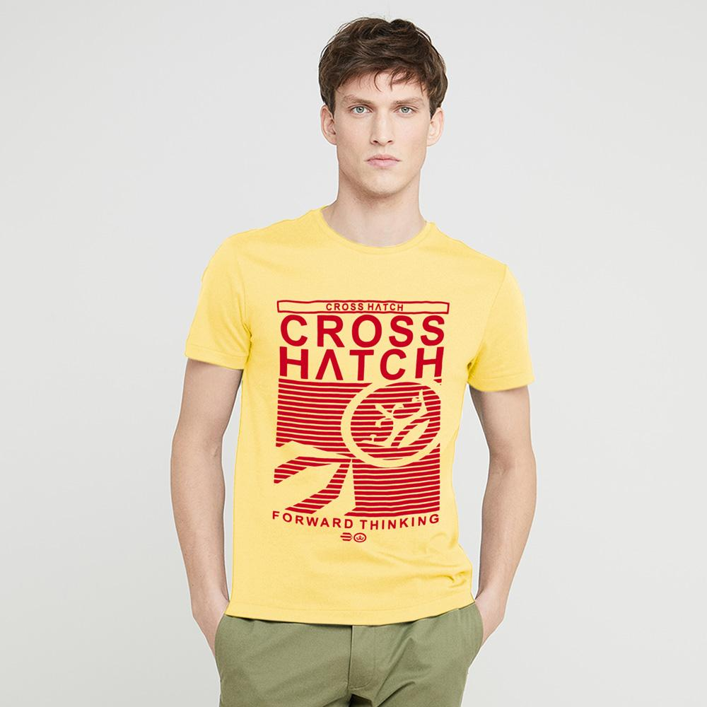 Cross Hatch Short Sleeve Tee Shirt
