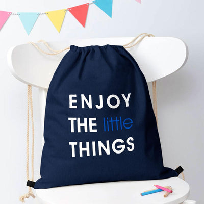 Polo Republica Enjoy Little Things Drawstring Bag Drawstring Bag Polo Republica Navy White