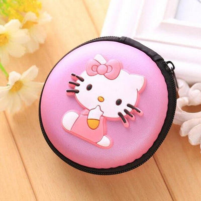 Cartoon Character Headphone Storage Bag Storage Bag Sunshine China Hello Kitty Purple