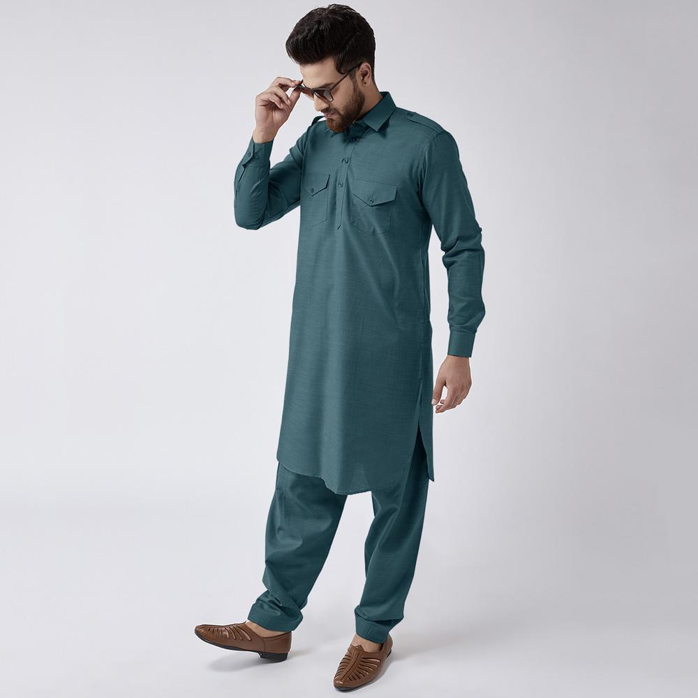 Velvour Shahjahan American Cotton Unstitched Suit Men's Unstitched Suit YTC Light Zink