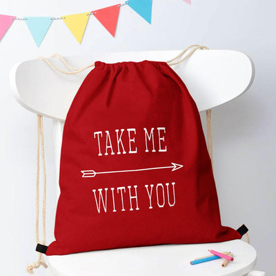 Polo Republica Take Me With You Drawstring Bag Drawstring Bag Polo Republica Red White