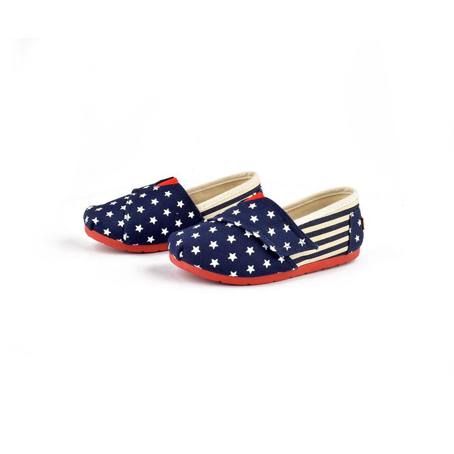 Xin Yan States Flag Printed Girls Canvas Shoes
