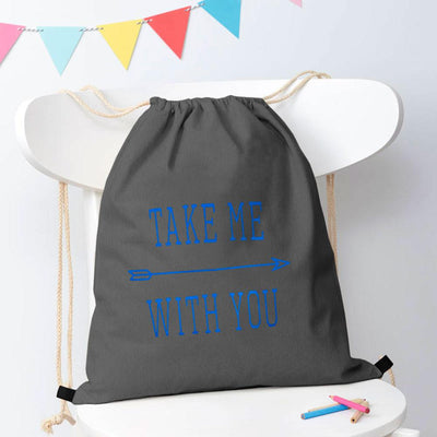 Polo Republica Take Me With You Drawstring Bag Drawstring Bag Polo Republica Graphite Blue
