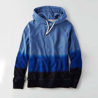 Bitlis Men's Cut Label Dip Dyed Pullover Hoodie Men's Pullover Hoodie First Choice Blue S