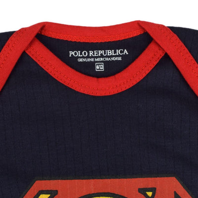 Polo Republica Superman Logo Long Sleeve Baby Romper Babywear Polo Republica
