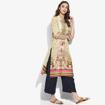 Digital Printed Hicher Unstitched Lawn Kurti
