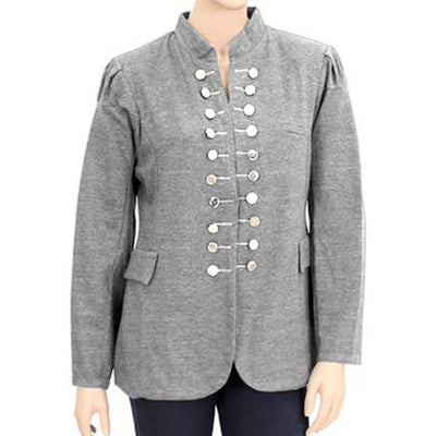 Elitzia Women's Terry Casual Coat Women's Jacket AGZ Heather Grey M