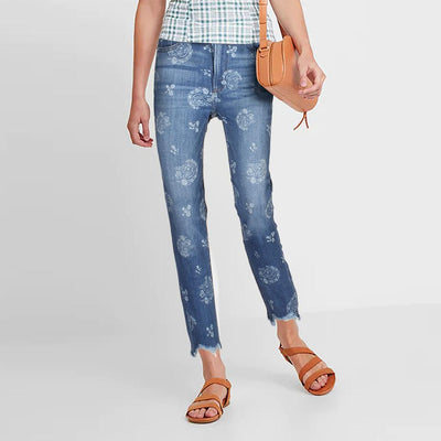 Express Floral Texture Women's Slim Fit Denim Women's Denim SRK 26 30