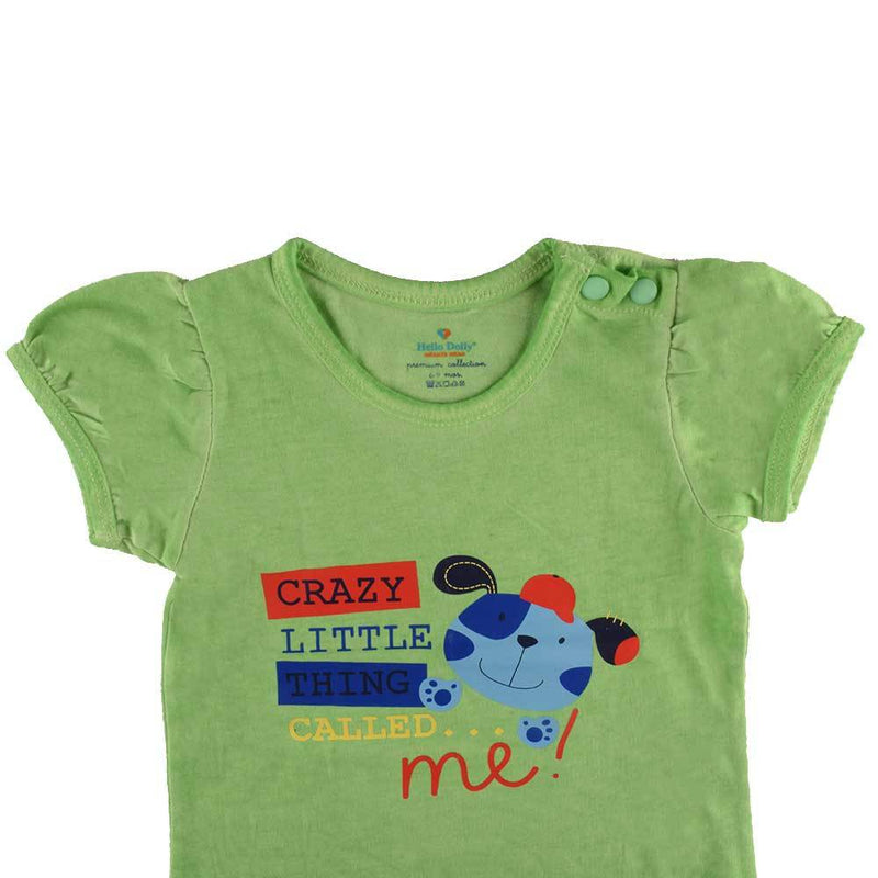 HD Crazy Thing Printed Short Sleeve Baby Suit Babywear First Choice 0-3 Months
