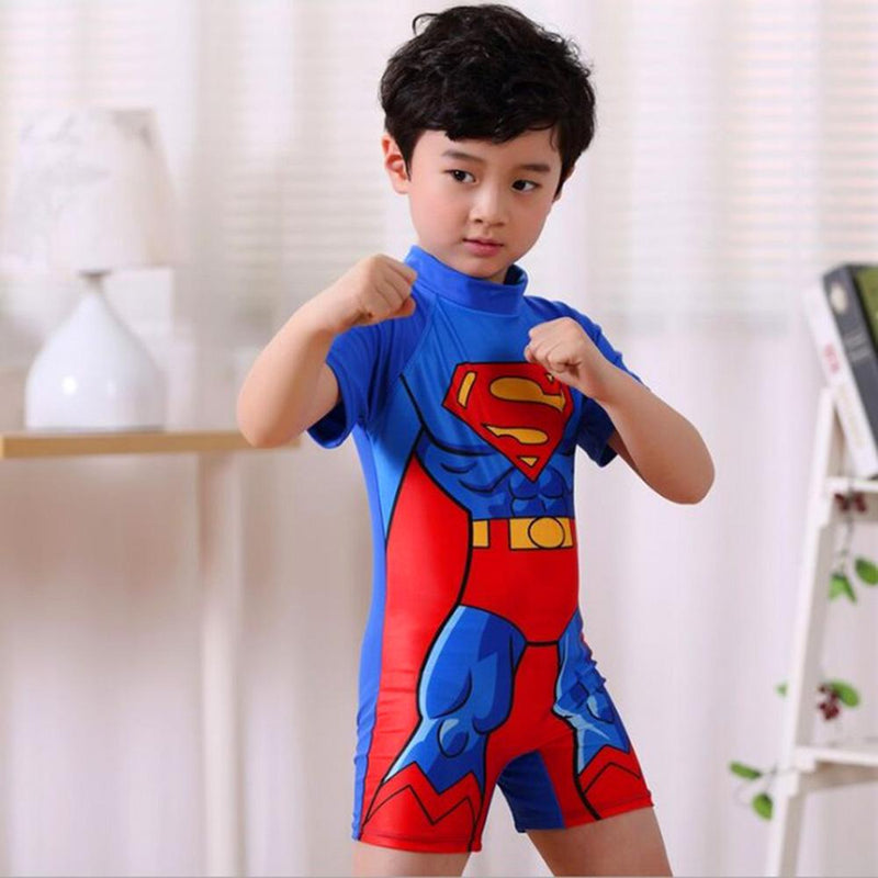 Pa In Pa Comics Boy's Superman Swimsuit Swimming Suit Sunshine China S