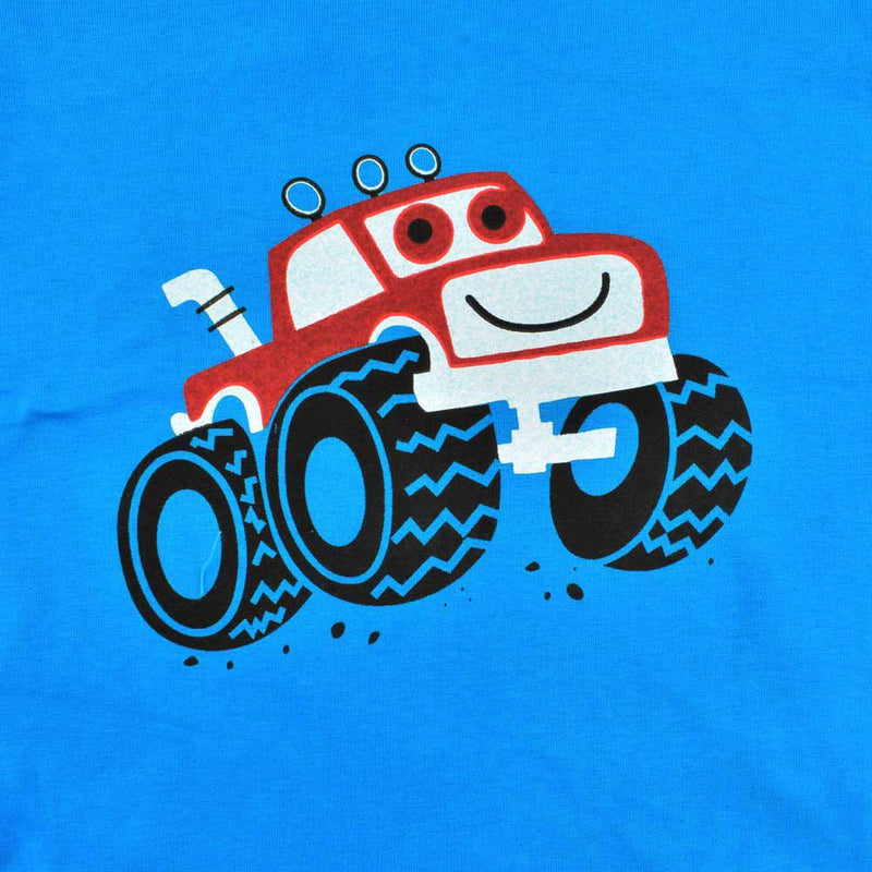 HM Monster Truck Kid's Classy Crew Neck Tee Shirt Boy's Tee Shirt First Choice Blue 2-3 Years