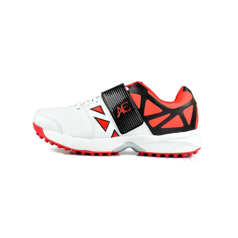 AC Absolute Power CK 01 Rubber Cricket Shoes Men's Shoes MB Traders White Red EUR 39