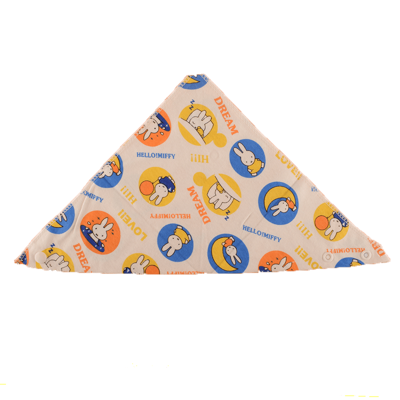 Cotton Knitted Baby Printed triangle double layer Bibs Kid's Accessories Sunshine China D1