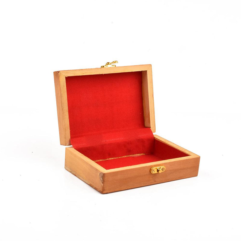 Real Wood Gold Tipped One Piece Jewellery Box Jewellery SAK