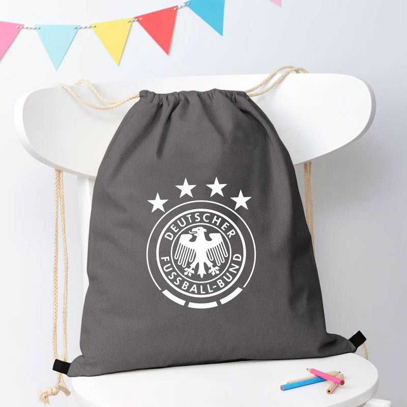 Polo Republica Suceava Deutscher German Football Drawstring Bag Drawstring Bag Polo Republica Black White