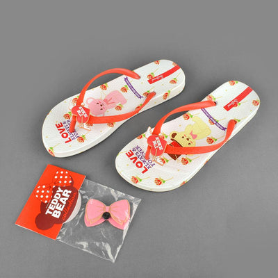 Women's Teddy Bear Collection Love Always and Forever Flip Flop Women's Shoes Sunshine China