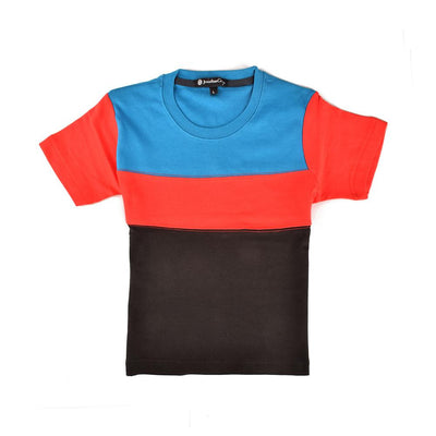 Jonathan Corey Kids Panelled Tee Shirt Boy's Tee Shirt First Choice D1 S