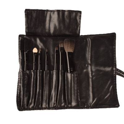 MAC 7 Pcs Makeup Brush Set With Leather Pouch Health & Beauty ANF