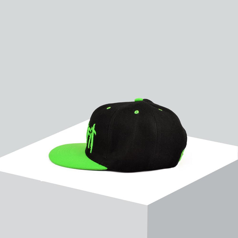 MB Trukfit Black N Green Embro Baseball Cap Headwear MB Traders