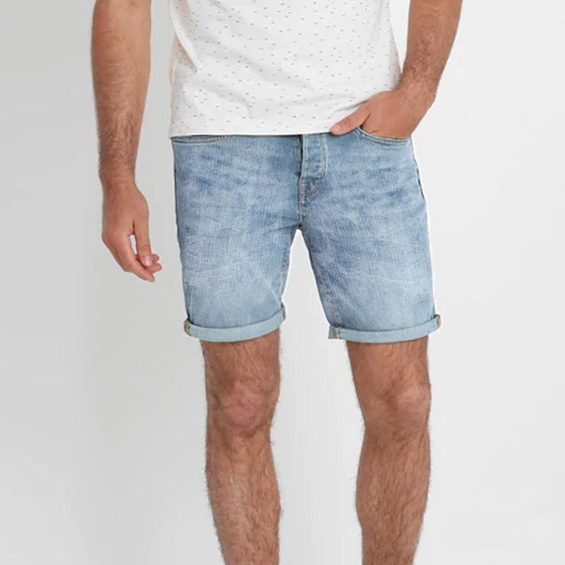 Denim Co Men's Faded Wash Denim Shorts Men's Shorts SRK