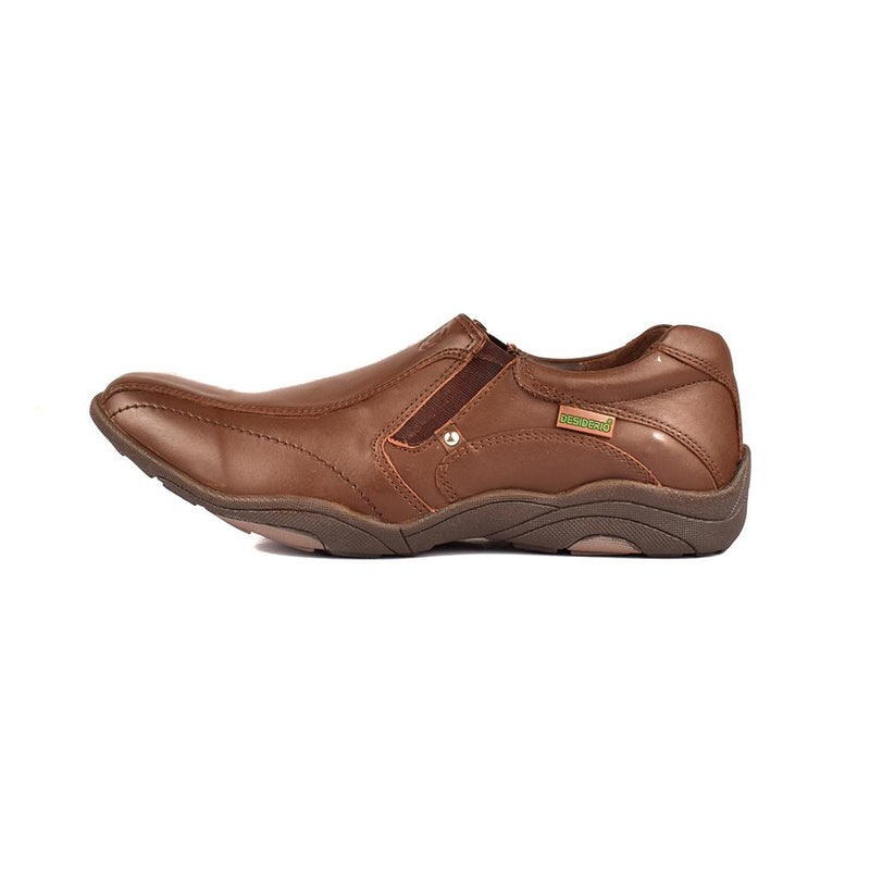 Desiderio Russia 015 Slip On Shoes Men's Shoes SFS Brown EUR 40