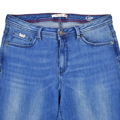 H.I.S Coletta Medium Blue Wash High Rise Straight Leg Denim Women's Denim SRK