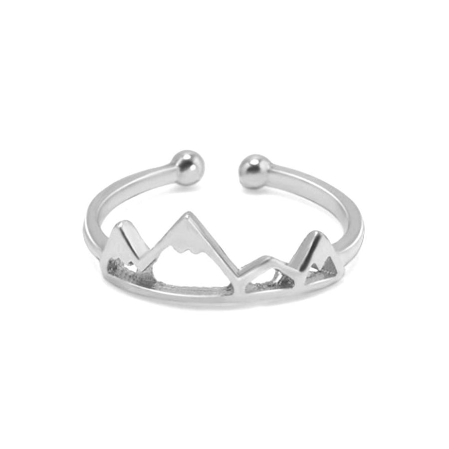 Snow Mountain Peak Adjustable Articulation Ring