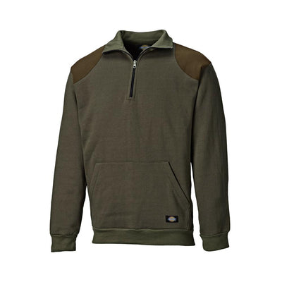 DCK Super Vole Long Sleeve Zipper Neck Sweat Shirt Men's Sweat Shirt Image Dark Olive S