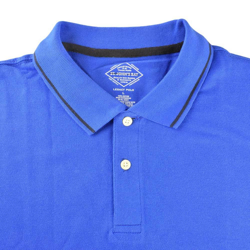 ST.John Bay Men's Cut Label Solid Pique Polo Shirt Men's Polo Shirt First Choice Royal Blue S