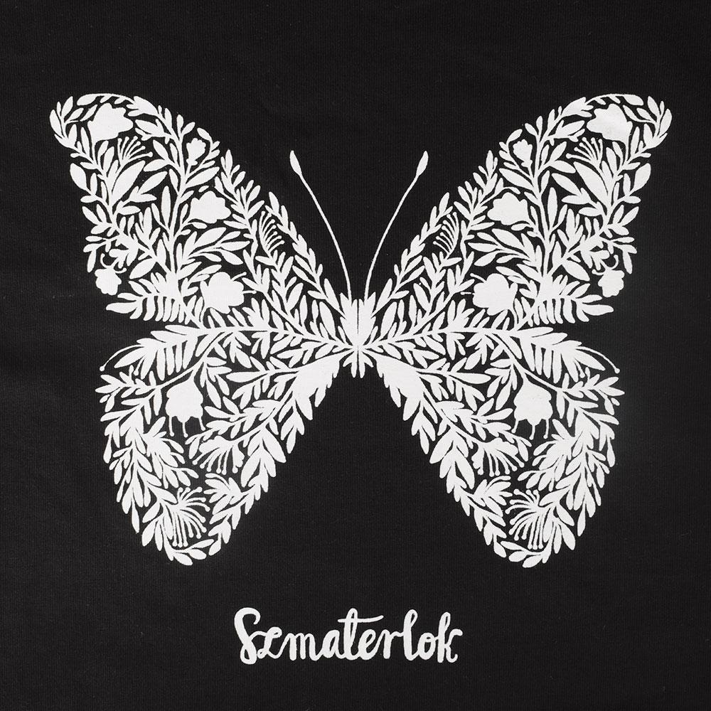 Women's Butterfly Crew Neck Tee Shirt Women's Tee Shirt Image