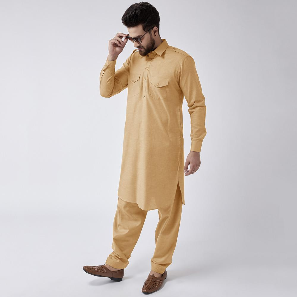 Velvour Shahjahan American Cotton Unstitched Suit Men's Unstitched Suit YTC Skin