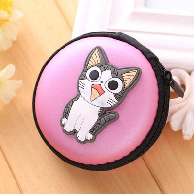 Cartoon Character Headphone Storage Bag Storage Bag Sunshine China Cat Purple