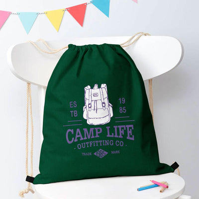 Polo Republica Camp Life Drawstring Bag Drawstring Bag Polo Republica Bottle Green
