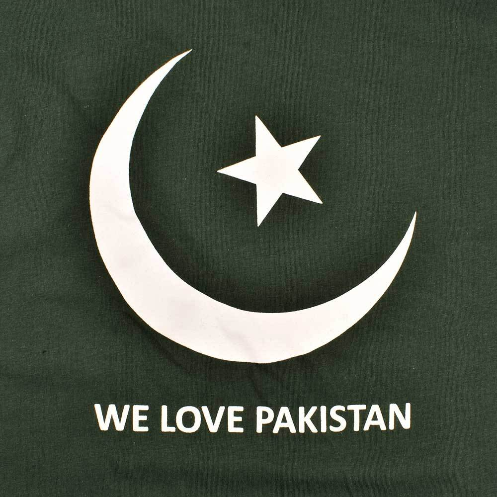 We Love Pakistan Long Sleeve V-Neck Tee Shirt Men's Tee Shirt Image