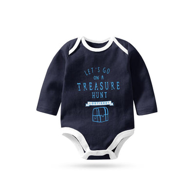 Polo Republica Let's Go On Treasure Hunt Pique Baby Romper Babywear Polo Republica Navy White 0-3 Months