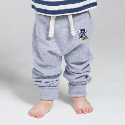 MTS Kid's Jerry Mouse Embro Sweat Pants Boy's Sweat Pants Image Heather Grey 12-18 Months
