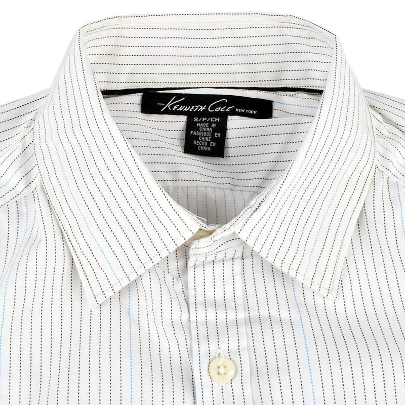 Kenneth Cole Lining Design Casual Shirt Men's Casual Shirt AGZ Off White XS