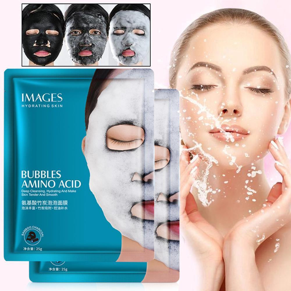 Images Women's Amino Acid Bamboo Charcoal Bubble Face Mask